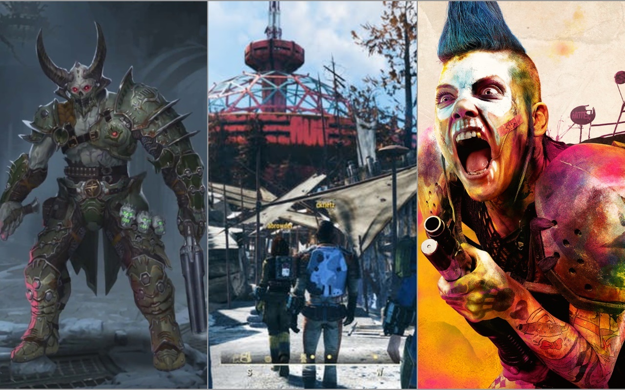 Doom Eternal, Rage 2, Fallout 76 and more will be coming to