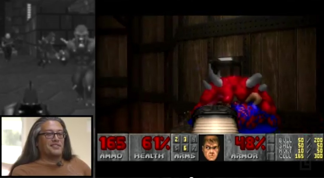 John Romero plays through the first episode of Doom