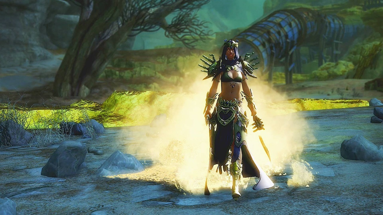 You can try Guild Wars 2: Path of Fire for free